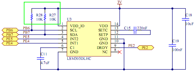 STM32F303-PullUp